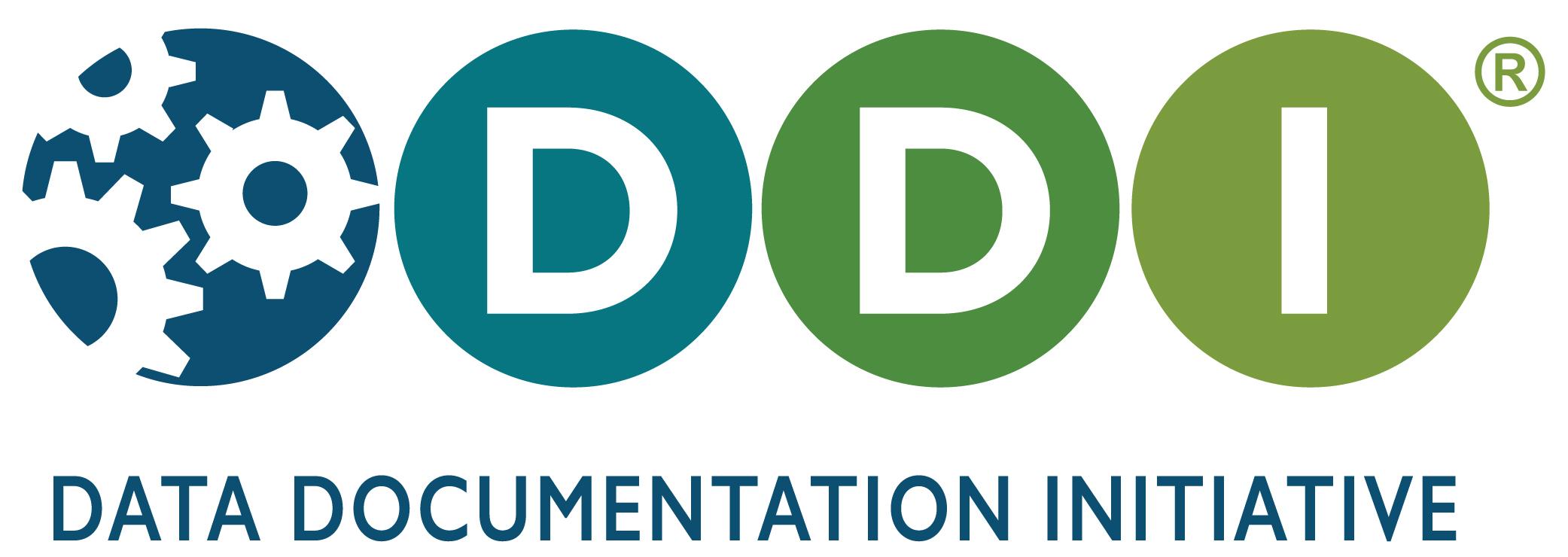 "DDI Logo with Tagline 2 -- ""Data Documentation Initiative"""
