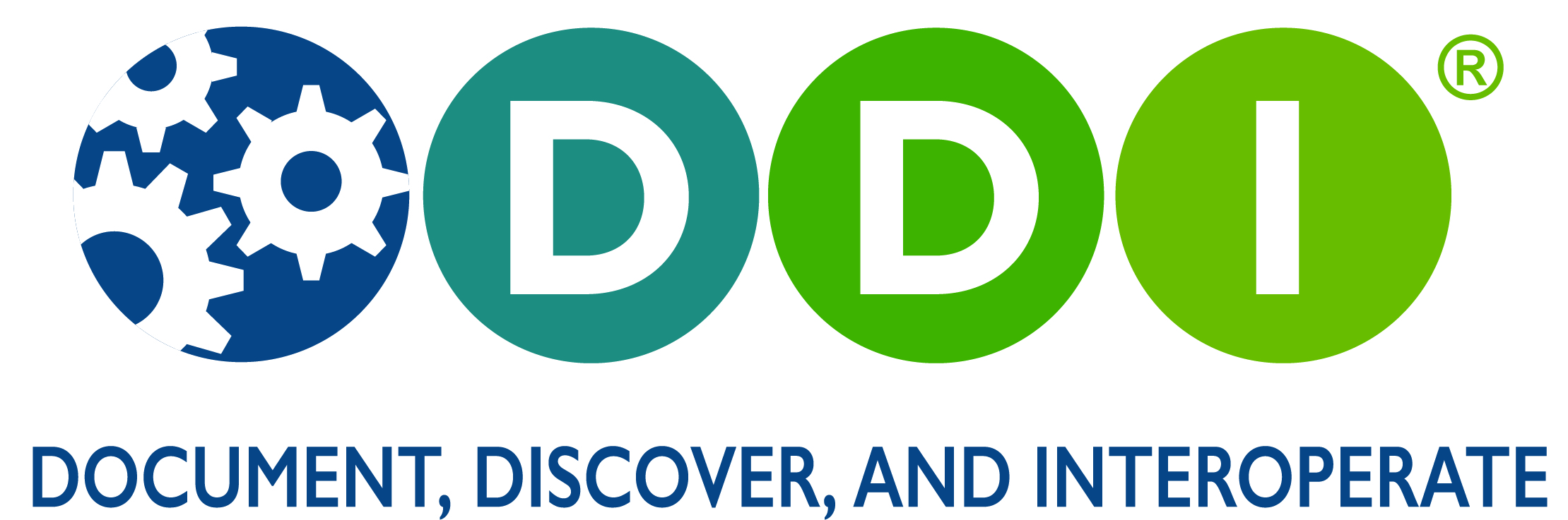 "DDI Logo with Tagline 4 -- ""Document, Discover, and Interoperate"""